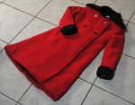 Coat front, with cuffs.