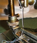 Built-in thread-cutter
