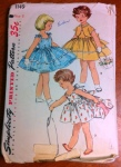 Is there anything cuter than fifties children's patterns? The only thing that irks me is that, looking at the pattern pieces, there is absolutely no way the skirts look like that. Not without a humongous crinoline (or possibly a hoop skirt).