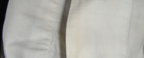 fabric and hand-stitching closeup