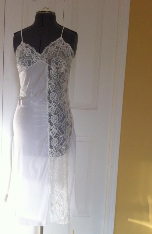 Slip front, imperfect drape