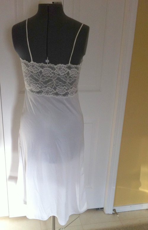 Back view, with lace panel