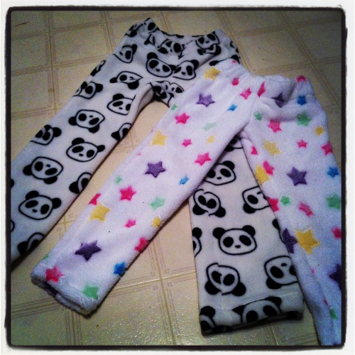 Small fuzzy pants