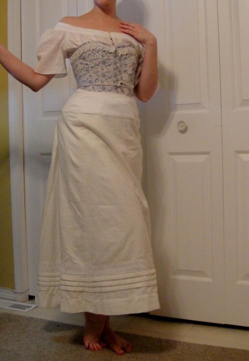 A flannel petticoat