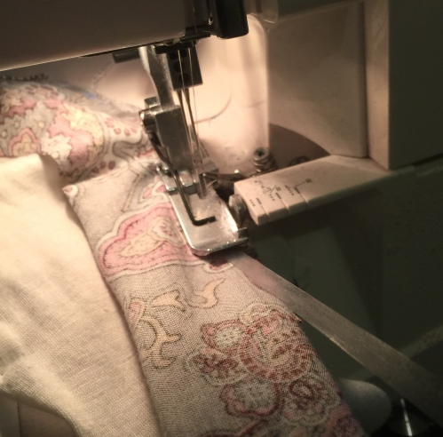 Step one: overlock.