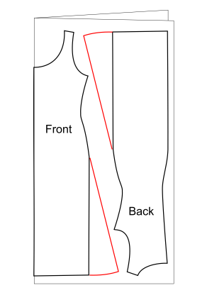 Flared skirt cutting diagram