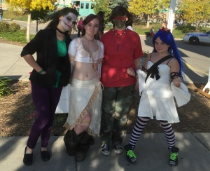 Joker, Elf, half-ass-Ninja-Turtle, and Wendy Marvell.