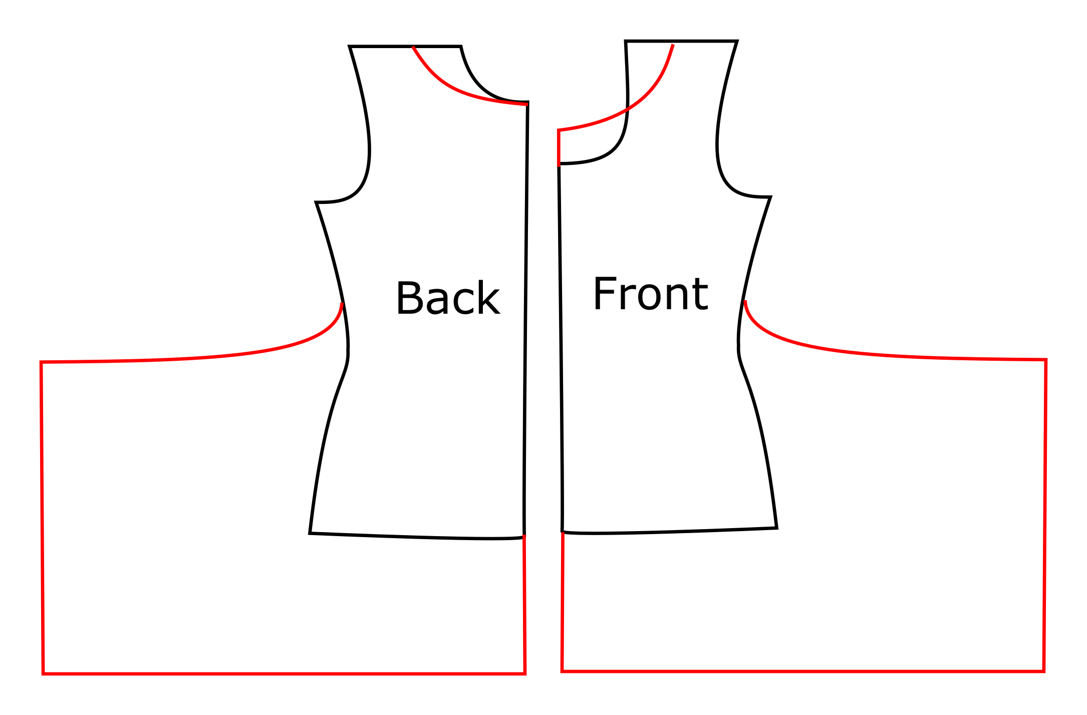 Swing dress schematic